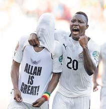 Footballer flashing 'Allah is Great' T-shirt escapes punishment