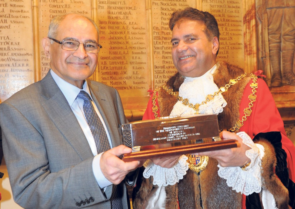 Consultant paediatrician awarded Freedom of Borough of Walsall