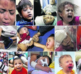 570 children killed in Israel's indiscriminate bombing of Gaza