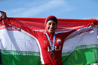 First Iranian female triathlete to compete internationally