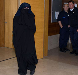 French  teen charged with biting police officer over niqab row copy