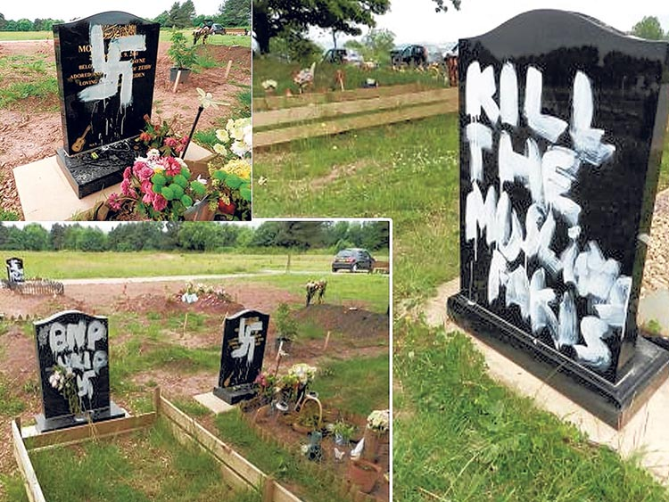 Muslim graves a desecrated in Newport