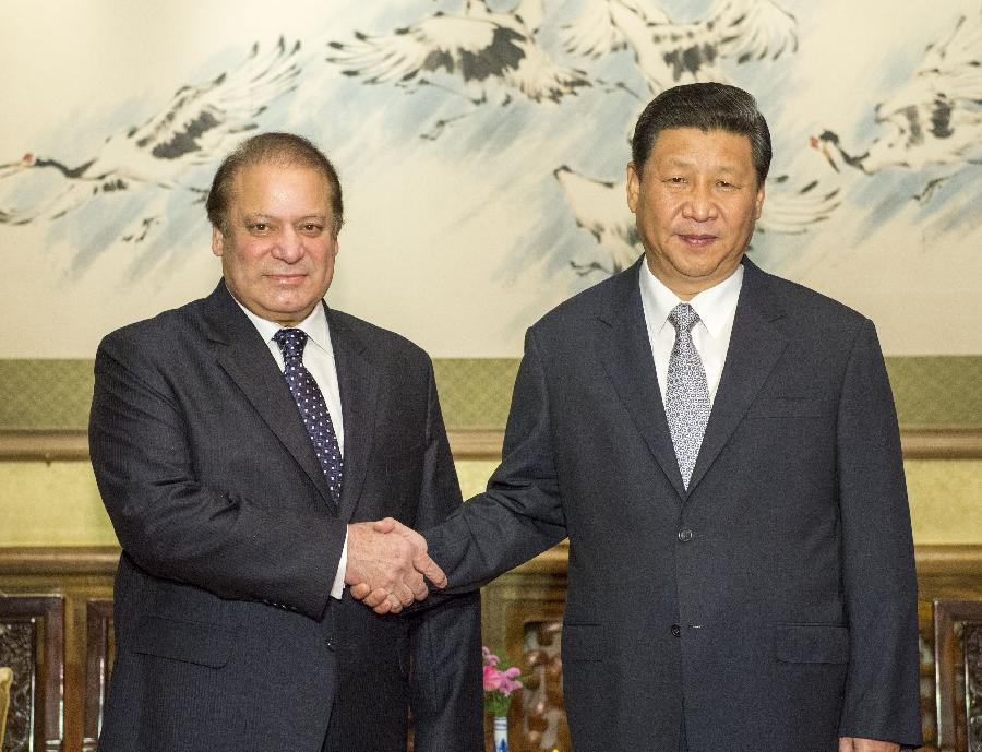 Nawaz sharif and china president in china july 2013