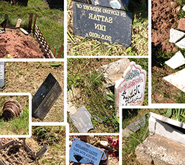 Nottingham Muslim graves vandalism treated as a hate crime