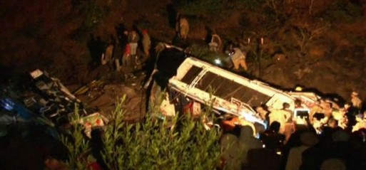 Pakistan: At least 12 killed as two buses collide, fall into ravine near Murree