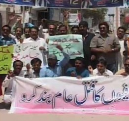 Pakistan: Journalists protest against attack on Hamid