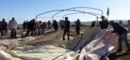 Palestine: Israeli forces destroy protest camp for 10th time