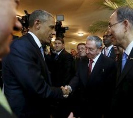 Summit of the Americas opens with historic handshake