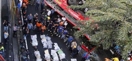 Philippines: At least 21 killed in bus fall-off in Philippine capital region