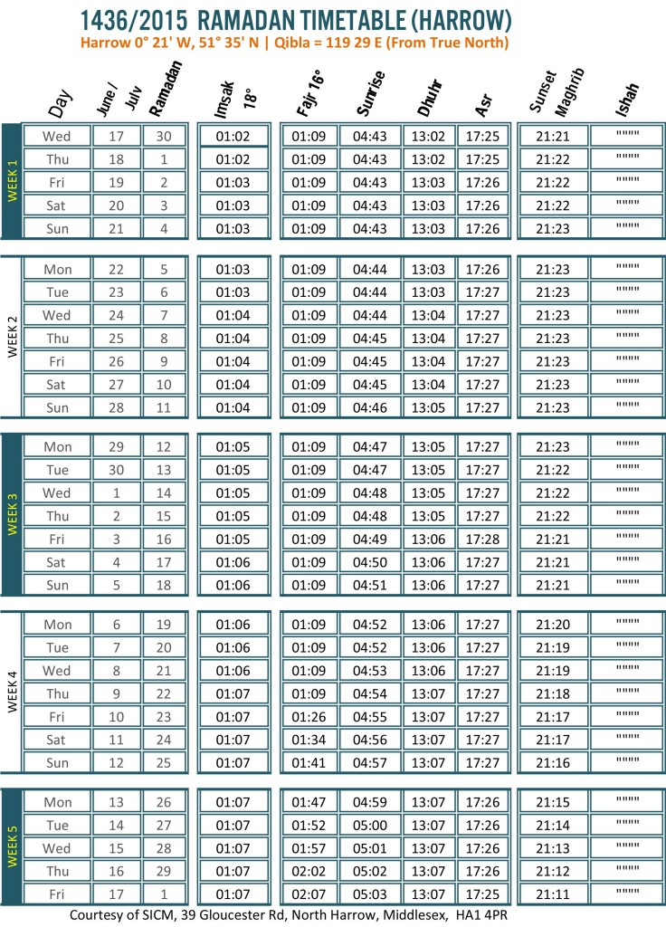 Ramadan Time Table Harrow SICM.xls