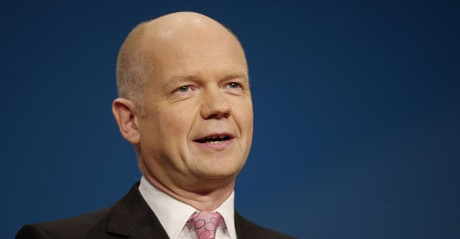 British Foreign Minister William Hague steps down
