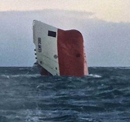 UK: Cement freighter capsizes off coast of Scotland, 8 missing
