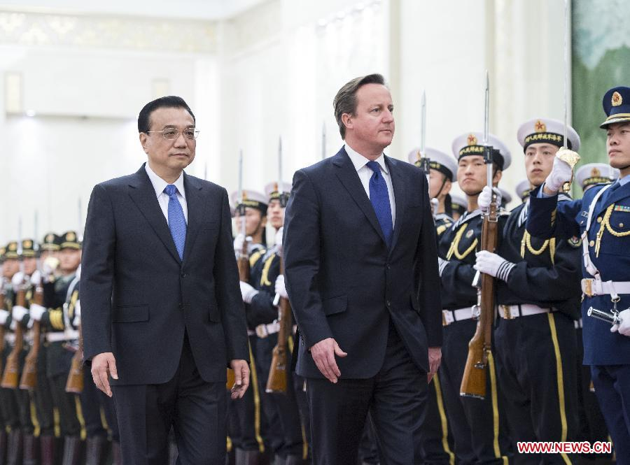 china UK Cameron in china trade mission 2 dec 2013