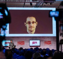 Germany: 'You are under attack,' Snowden tells tech fair goers