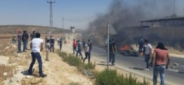 Palestine: Protesters suffer from teargas fired by Israeli soldiers in Salfit